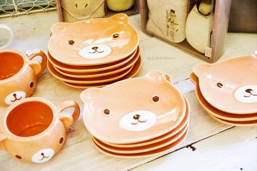 Bear dishes kitchenalia pinterest kawaii kitchen for Kitchen set 008 26