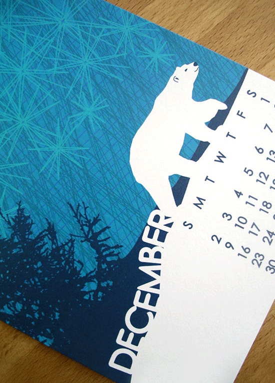 Polar bear calendar