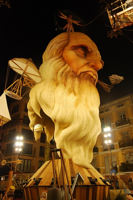 Valencia - Las Fallas 2012 - watched him burn to the ground!