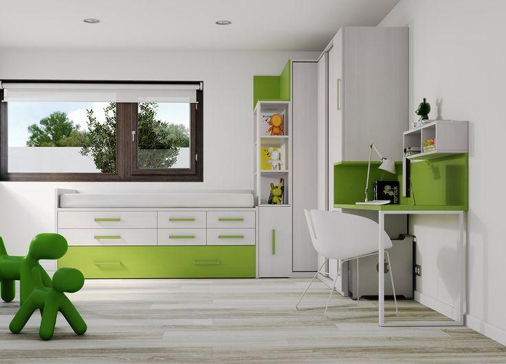 детская в зеленом цвете