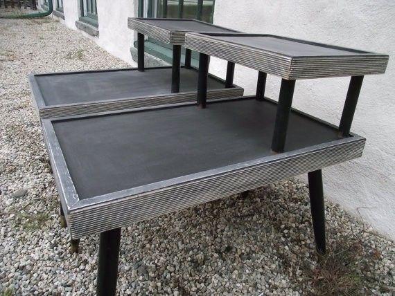 252ee23821057 Mid Century End Table Set