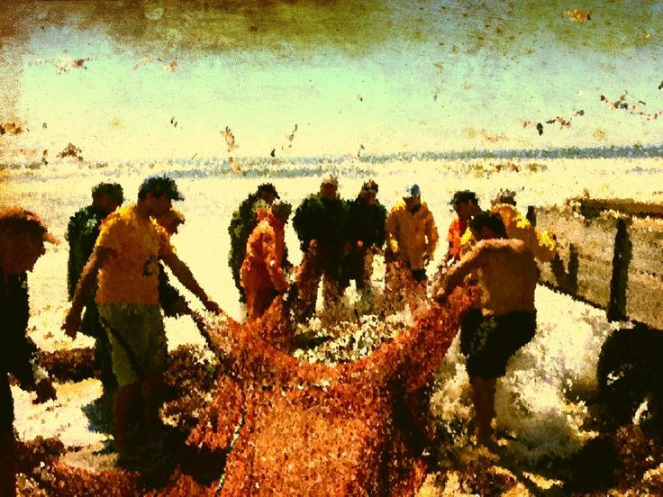 Here's that picture of the fishermen again, this time I played around with it to give it an oil painting look.