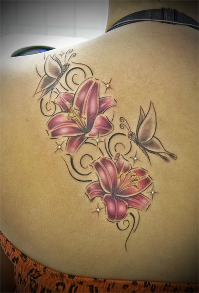 beach tattoos for women | Tattoovorlagen Lilie - LiLz.eu - Tattoo DE