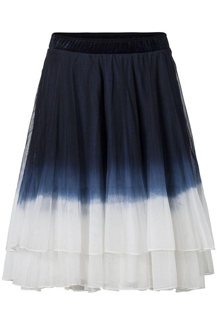 Vrouwelijke speelse rok met tie dye effect Donker blauw   Didi.nl