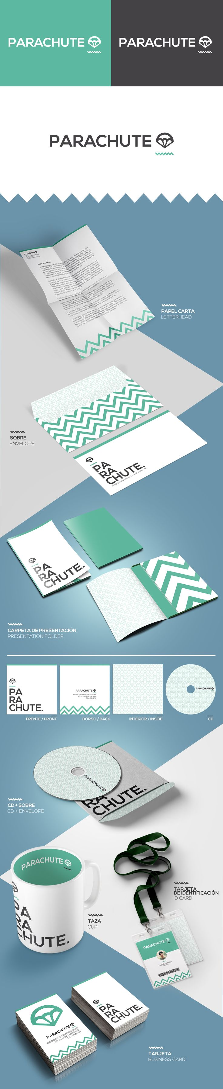Parachute. Diseño de Logo y Marca :: Branding. By: Tomas Gesto y Gabriel Almeida. http://be.net/gallery/50816439/Parachute-Marca-Branding