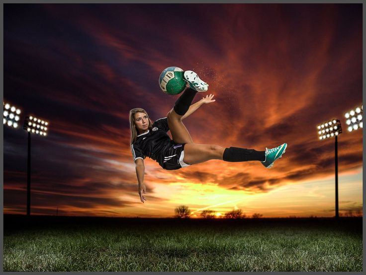 Senior soccer photo idea. Composite image. http://www.grizzlephotography.com/seniors/soccer-senior-session/