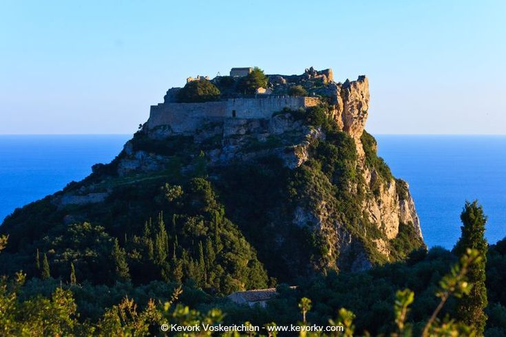 "Angelokastro - ""Castle of Angels"" or ""Angelos's castle"" is located at the top of the highest peak of the island's shoreline in the northwest coast near Palaiokastritsa and is one of the most important Byzantine castles of Greece."