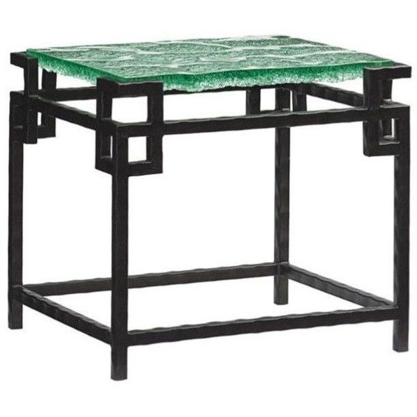 Tommy Bahama Island Fusion Hermes Reef Glass End Table (13,275 CNY) ❤ Liked  On Polyvore Featuring Home, Furniture, Tables, Accent Tables, Black, Glass  ...