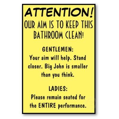 Säubern Sie Badezimmer Poster