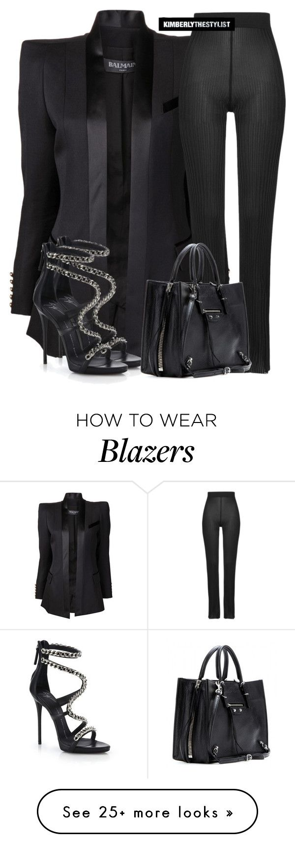 Untitled #2567 by whokd on Polyvore featuring Balmain, Giuseppe Zanotti, Balenciaga, women's clothing, women, female, woman, misses and juniors