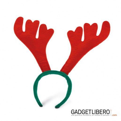 Un simpatico cerchietto con le corna di renna per il tuo #Natale