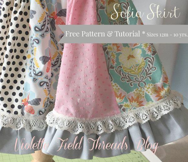 Sophia Skirt FREETutorial Sizes 12m-10yr, by Violette  Field Threads