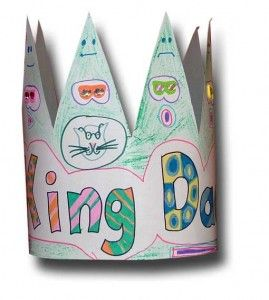 Father's Day craft:  King for a Day paper crown