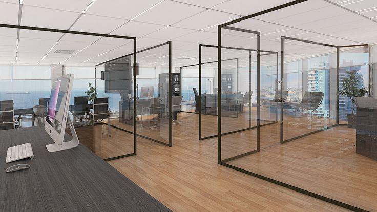 Oficina plantas libres en 3D Chile Voxel
