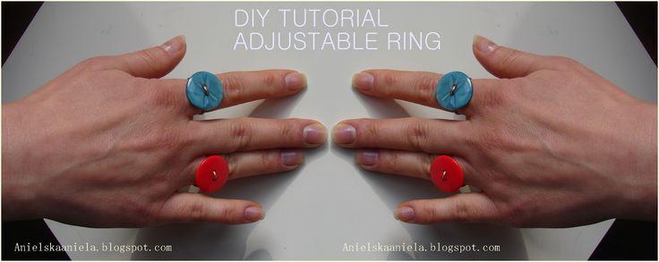 DIY TUTORIAL adjustable ring regulowany pierścionek diy