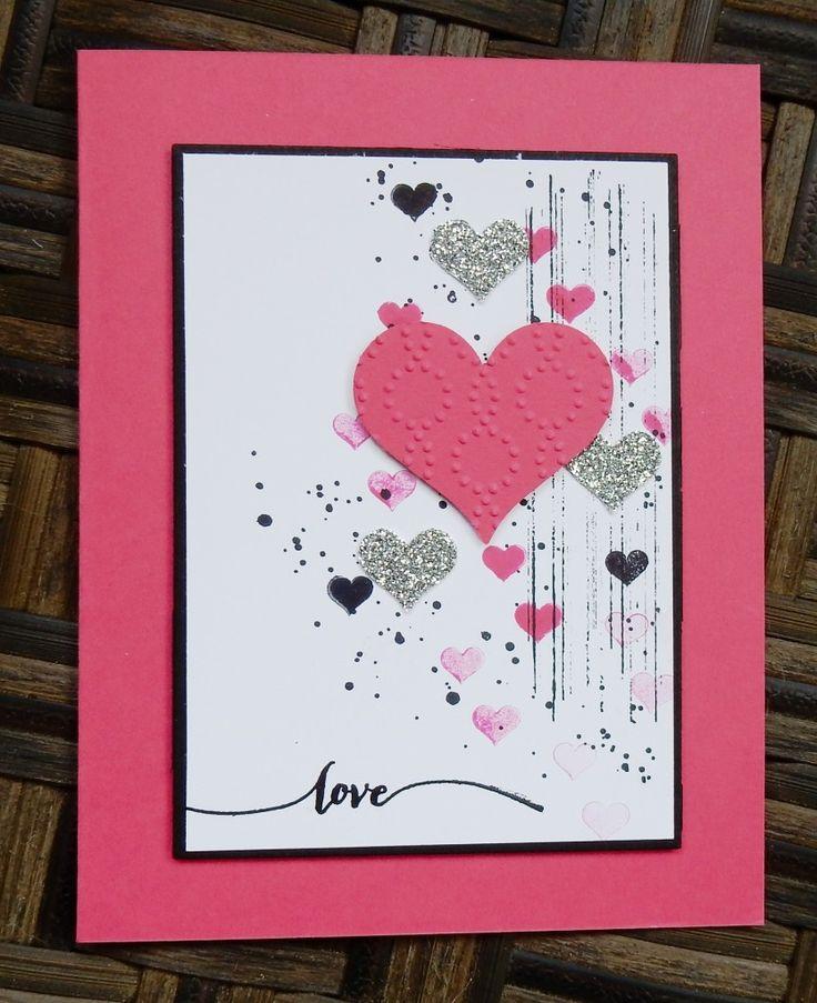 Grunge Valentine by Wendy Lee, #creativeleeyours, Stampin' Up!, georgous grunge stamp set, hearts, love, valentine card - SU