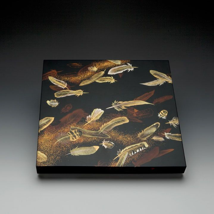 Feathers Paper Box | Erik Thomsen Asian Art. OkadaYoshio Yoshio.