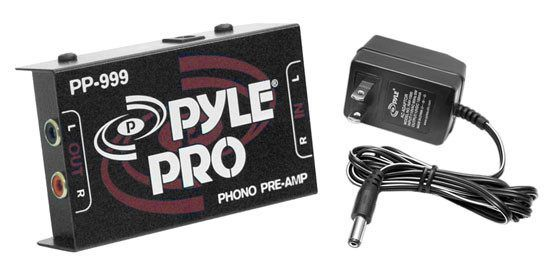 Compact Ultra-Low Noise Phono Turntable Preamp PP999 + 12-Volt Adaptor - Preamplifier