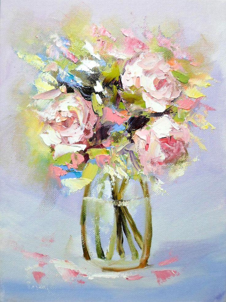 Купить Картина маслом - картина, картина маслом, картина в подарок, картина для интерьера, картина с цветами