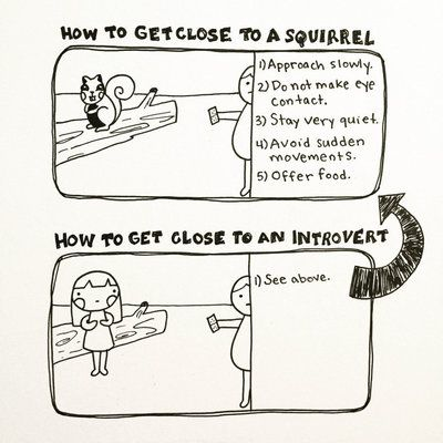 How to get close to an introvert | 12 Drawings That Nail The Everyday Life Of An Introvert