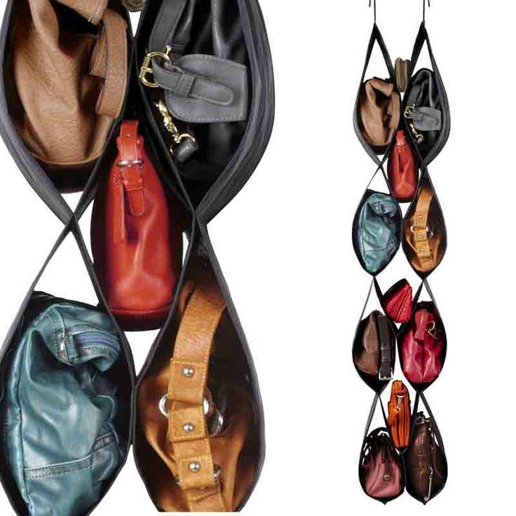 Organizador de bolsos...te ayuda a elegir: ¡todos a la vista en poco espacio!