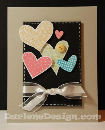 I Heart Hearts Card...with tutorial.