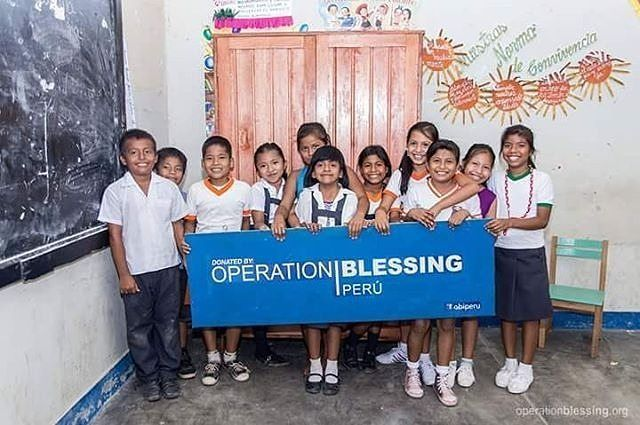"""""""I am very happy for what Operation Blessing is doing for our children,"""" said one of the teachers from an OB supported school in Peru. #educationforall"""