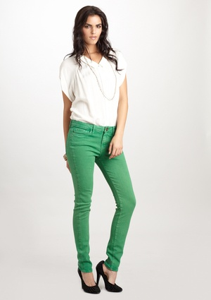 Green skinnies?!  Love