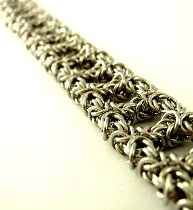 Stainless Steel Chainmaille Bracelet - Royal Ladder Weave