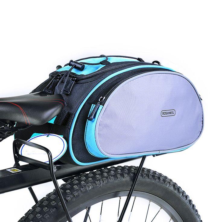 Ajustable Bicicleta Portabicicletas Paquete Trunk Pannier Del Bolso Del Asiento Trasero Del Bolso de Carga Con cinta Reflectante cremallera en forma de U