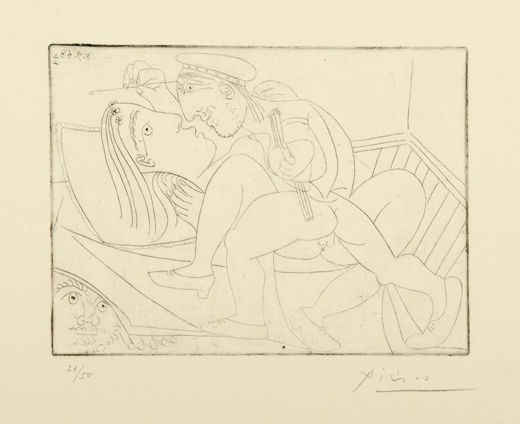Pablo Picasso, 316 (1968)   #drawing #art #artmarket #limitededition #artistoftheday #fineart #buyart #picasso