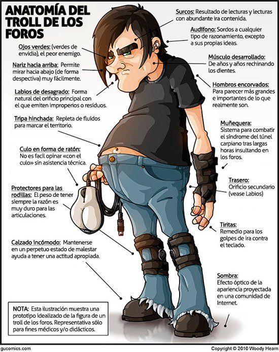 Anatomía de un troll