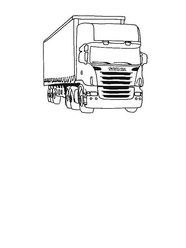 Tractor Trailer Coloring Pages Tractor Trailer Semi Truck Coloring Page By 8 Years Old Layla In 2020 Coloring Pages Truck Coloring Pages Coloring Pages For Boys
