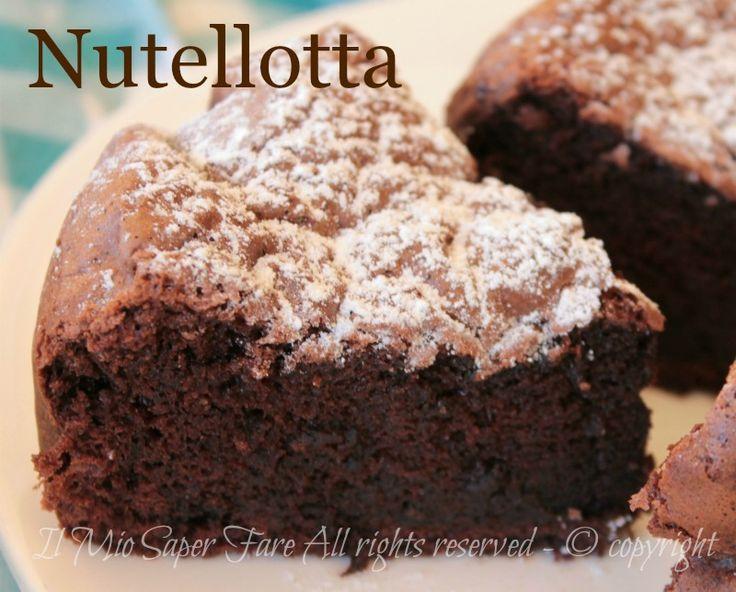 Nutellotta torta alla nutella morbida con solo 3 ingredienti #NUTELLA #DOLCE #TORTANUTELLA