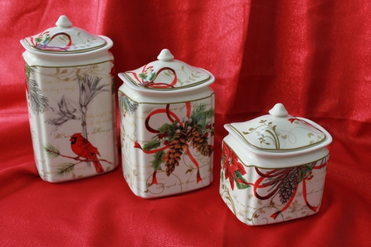 Holiday Wishes Canister Sets And Canisters On Pinterest