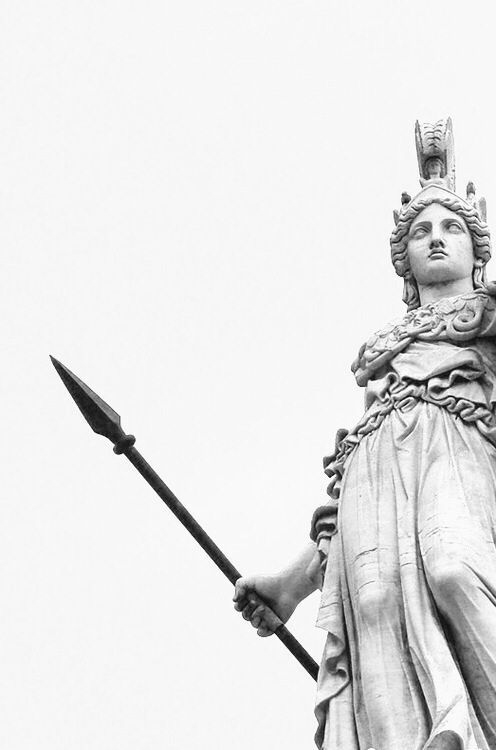 Athena~ goddess of wisdom, war, and creating. With a strong heart and clever mind shes sharper than any weapon on earth.