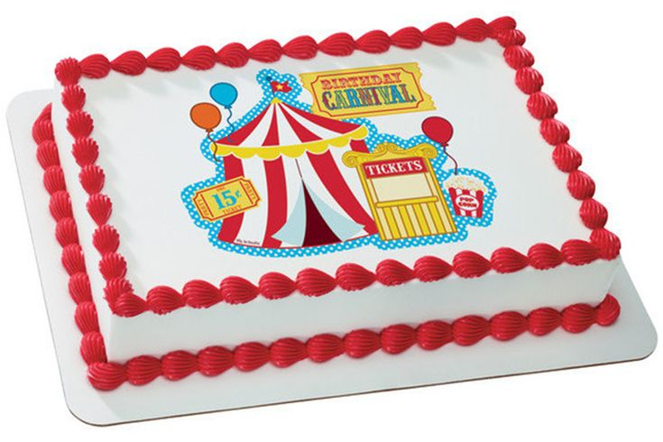 carnival party edible cake image