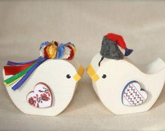 Poltava Ucrania novia aves Korovai o pastel de cumpleaños