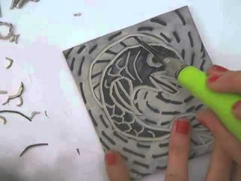 This video very quickly shows the step by step process of creating a 2 color lino cut block and print. It is part of the introduction to a lesson on cut block printmaking for 5th graders.