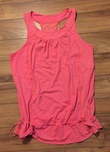 Lululemon Tank Top Pink Women's Mesh Back Size 12 | eBay