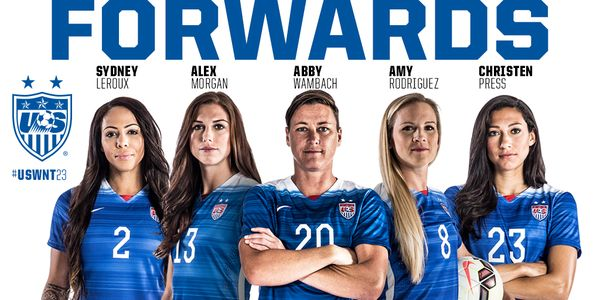 311 international goals amongst #USWNT forwards. See you in Canada! #USWNT23