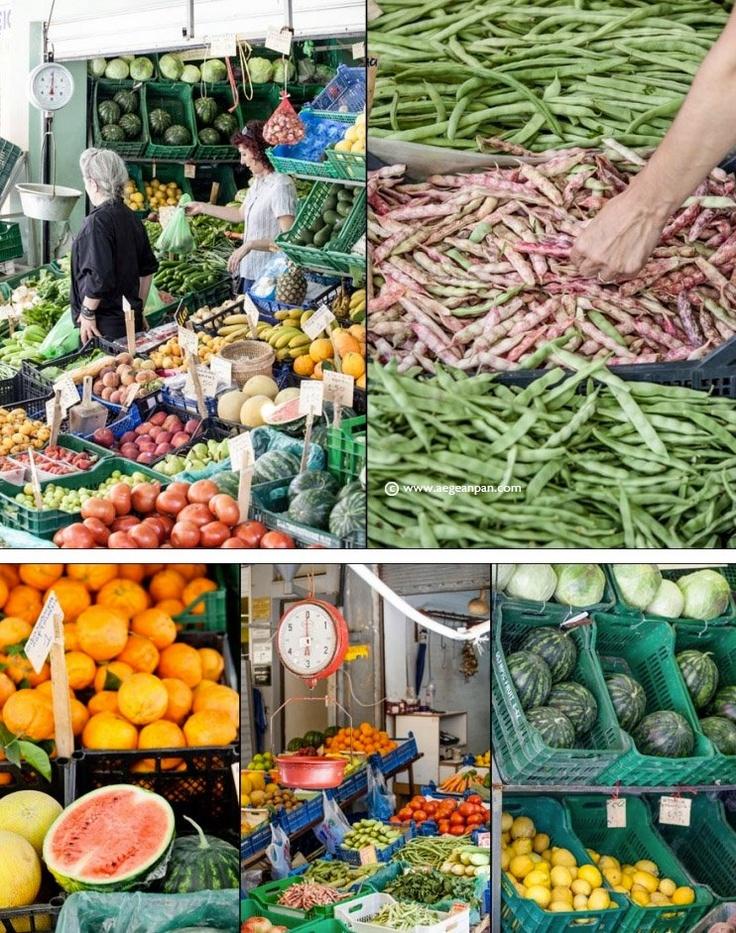 Heraklion Fruit & Veg Market Crete Greece