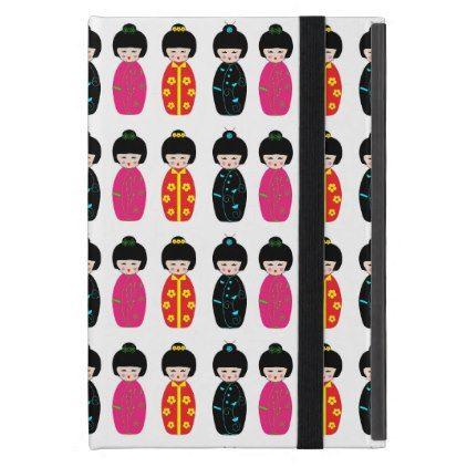 #cute - #Traditional Japanese Kokeshi Geisha Dolls Cover For iPad Mini
