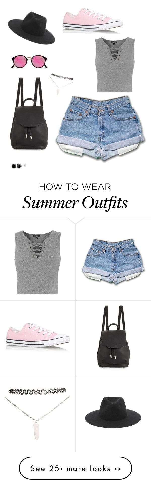 """""""summer festival outfit #1"""" by mackenikole on Polyvore featuring rag & bone, RetroSuperFuture, Topshop, Wet Seal and Converse"""