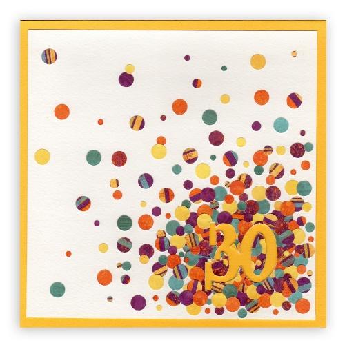 Carte Anniversaire Confettis, Lovely Carte