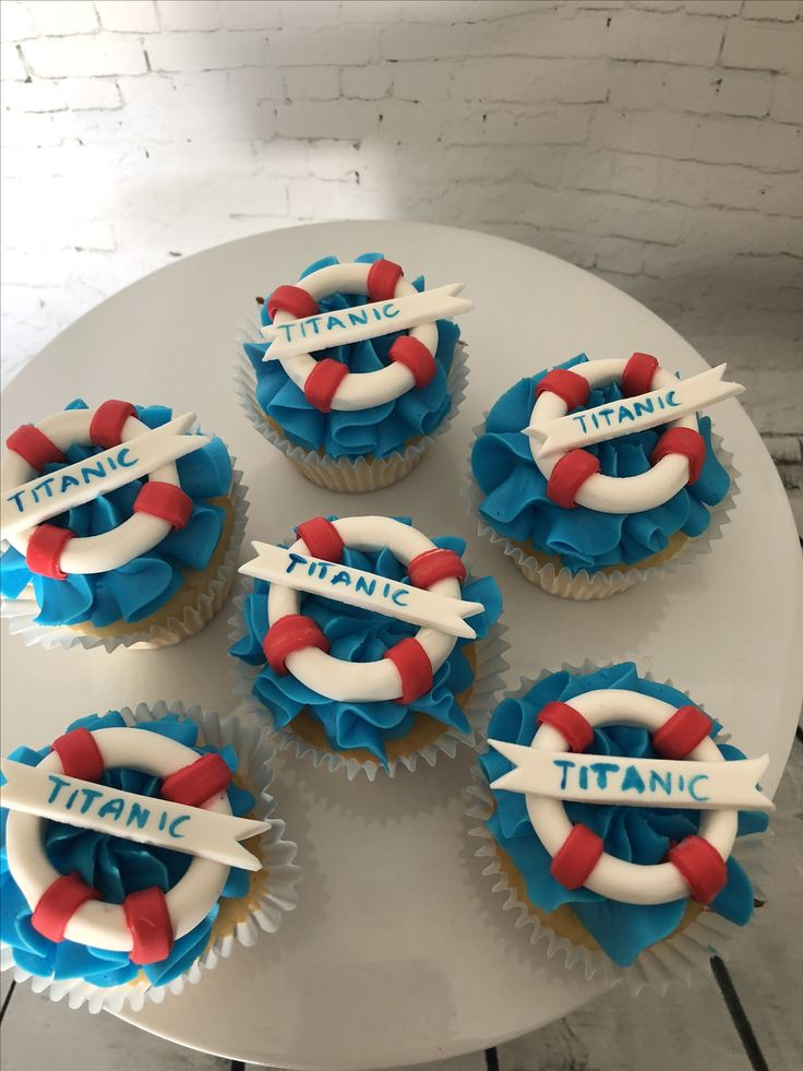 Titanic Cupcake Toppers - Sugar by Design