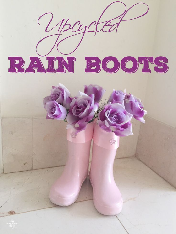 Today I am showing how to make some flower vases out of a pair of upcycled rain boots. This is a nice way to recycle them, don't throw them