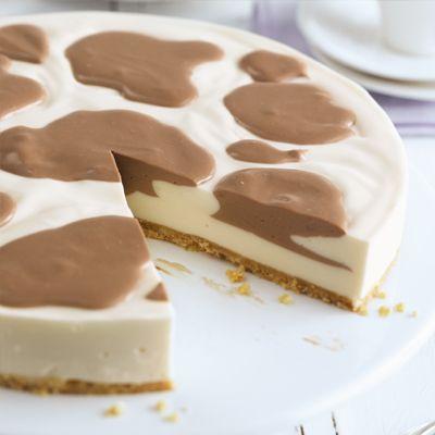 Philadelphia – Recipe – Philadelphia Torte Milka Kuhflecken