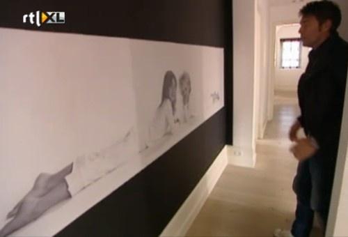 RTL woonmagazine: gaven canvasfoto in hal