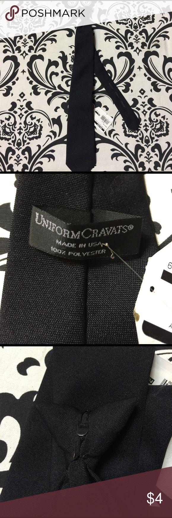 """Black clip on tie Black clip on tie. 16.5"""" Accessories Ties"""